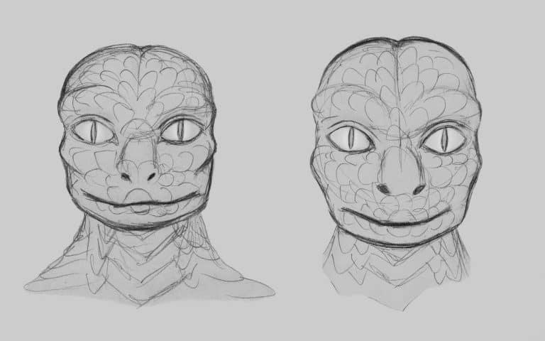 Replitian Sketch | Credit: Dahami's Reptoids & Aliens