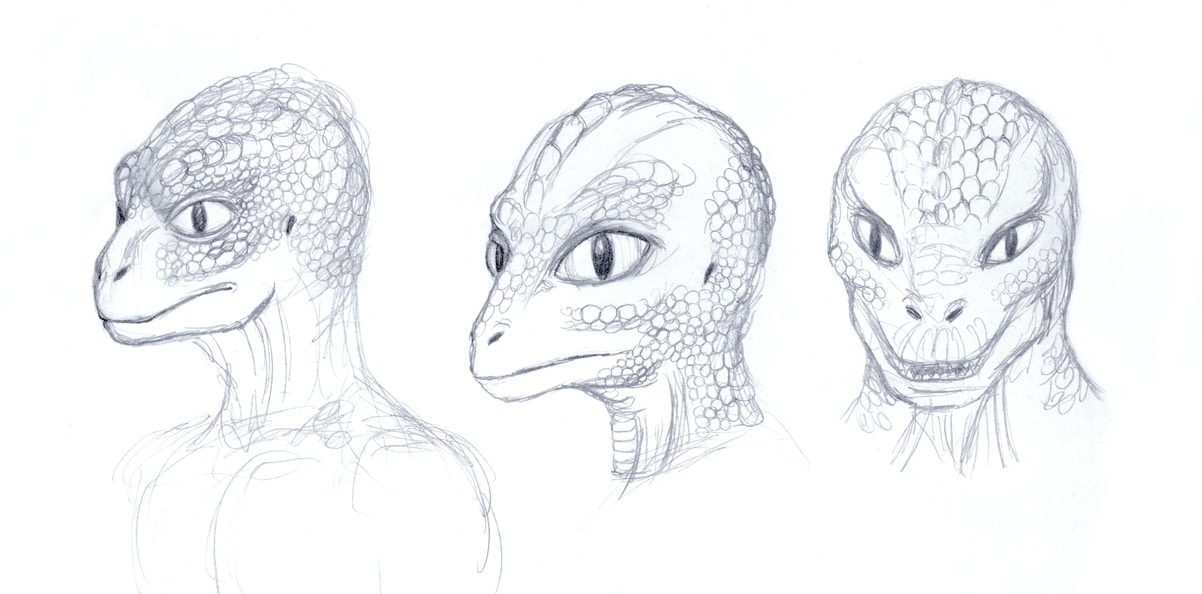 Tooka Reptoid Sketch