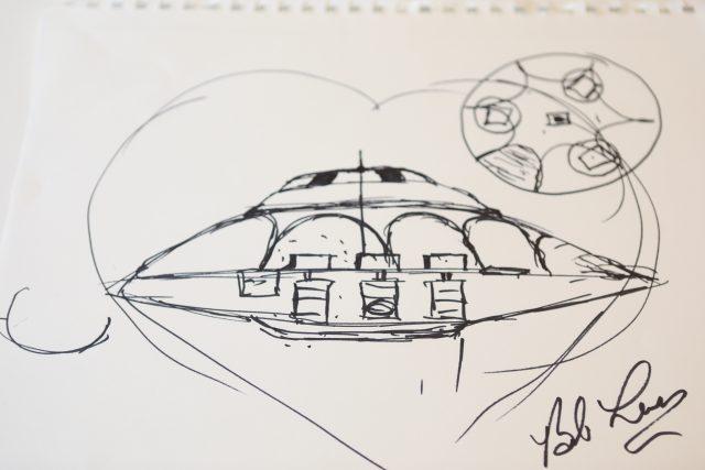 bob lazar ufo sketch